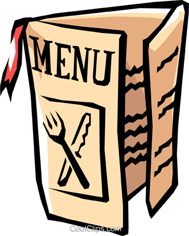 385x480 Restaurant Menu Royalty Free Vector Clip Art Illustration