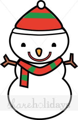 254x388 Snowman With Red And Green Sriped Hat And Scarf Snow Images