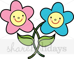 300x239 Smiling Flower Clip Art