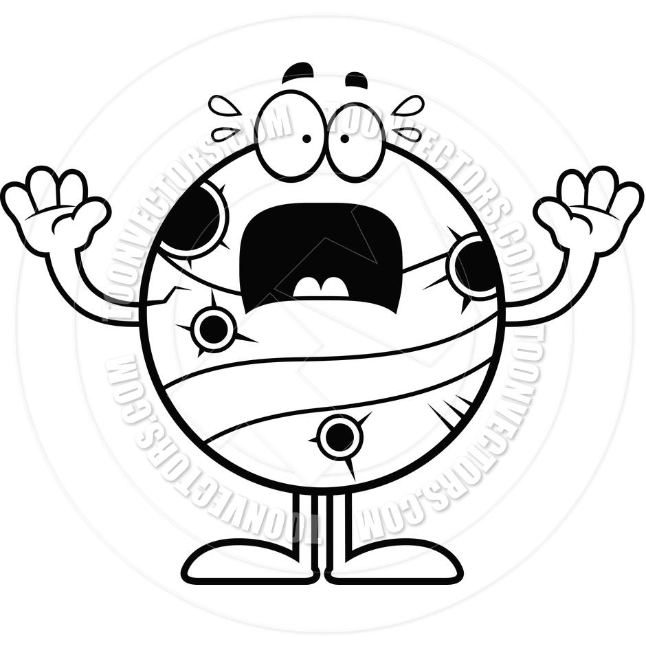 940x940 Scared Cartoon Mercury (Black And White Line Art) By Cory Thoman