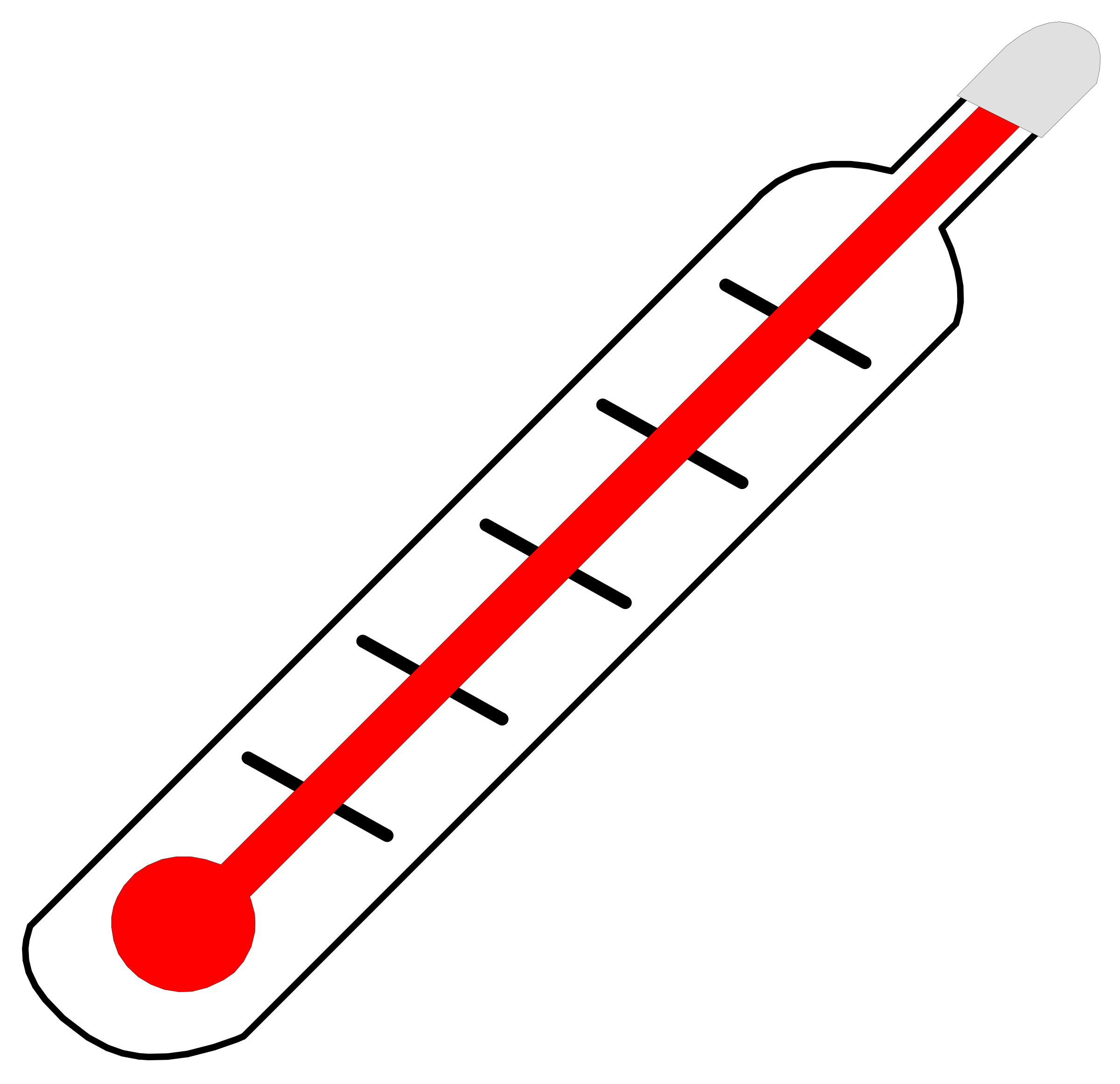 2400x2323 Mercury Thermometer Clip Art