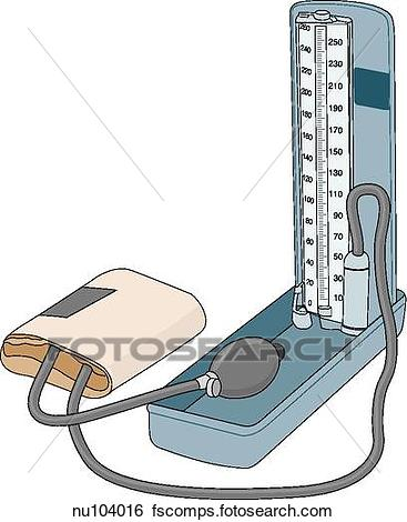 367x470 Stock Illustration Free Standing Pressure Manometer