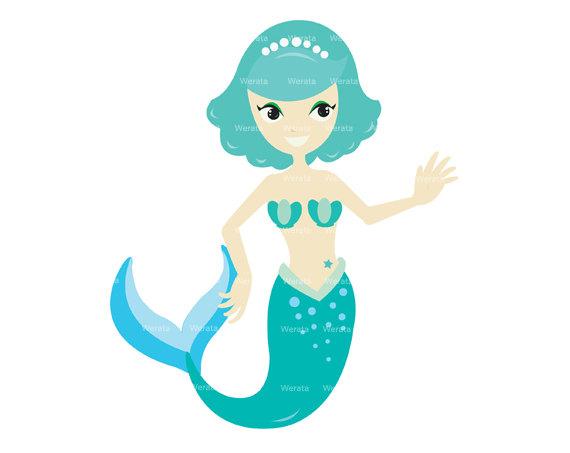 570x453 Mermaid Clip Art