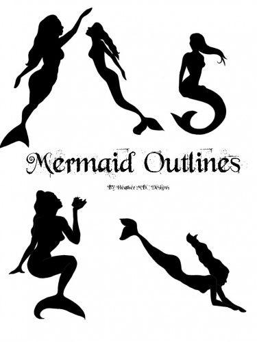375x500 Mermaid Clip Art Black And White Mermaid Outline Clipart Mermaid