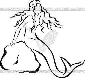 300x276 Mermaid Clipart Sea Rock