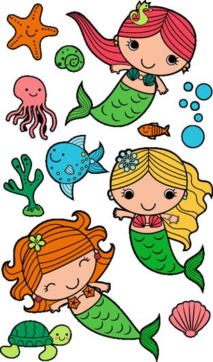 312x529 Mermaid Clipart Simple
