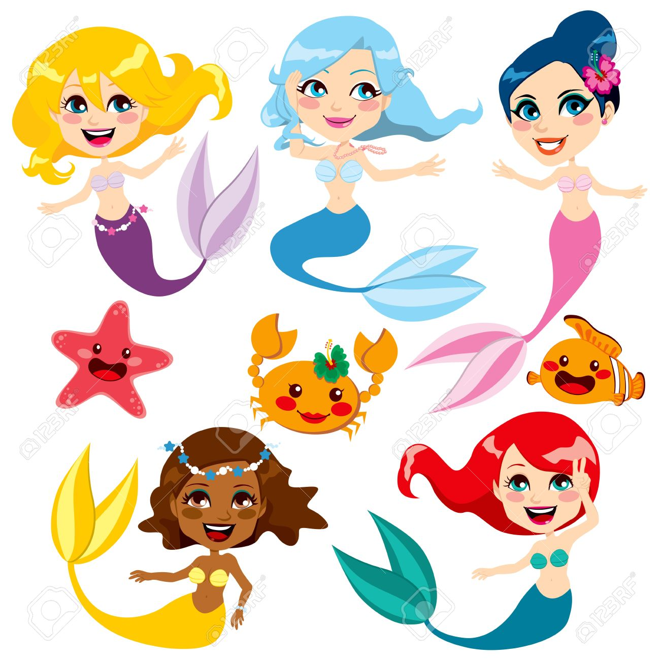1300x1300 Top 92 Mermaid Clip Art