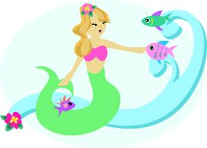 300x214 Clip Art Image A Mermaid With Clipart Panda