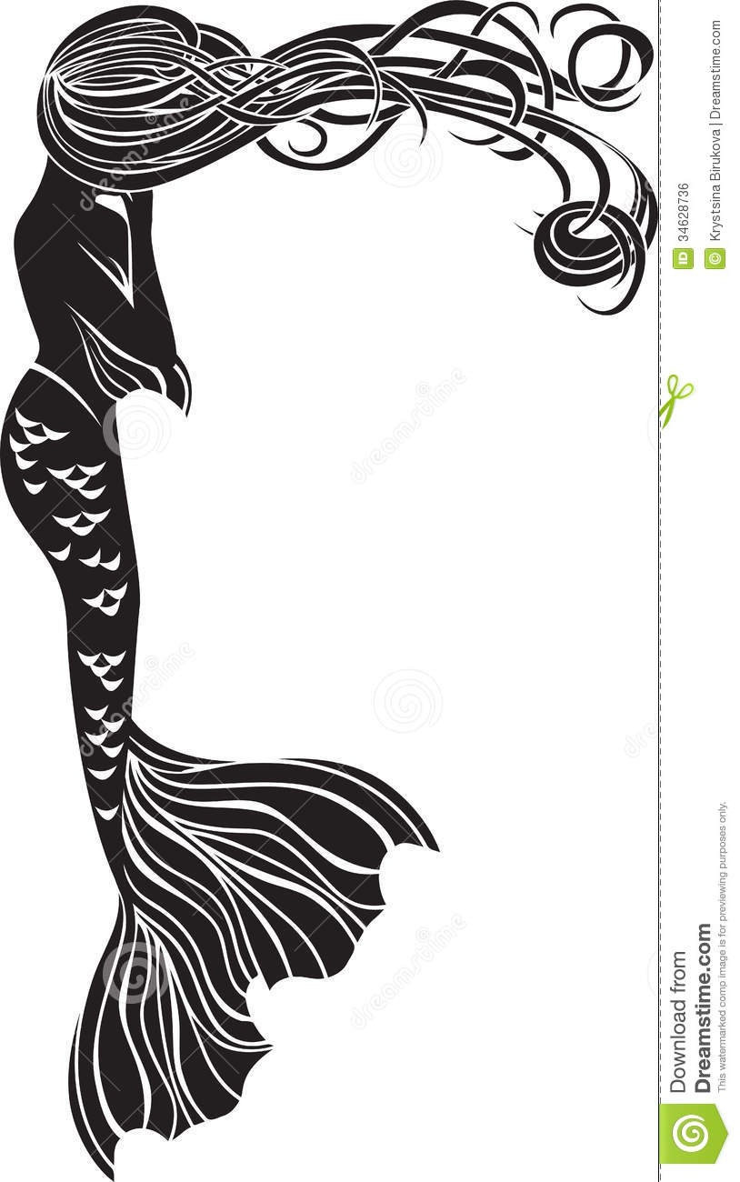 814x1300 Mermaid Clipart Art Deco