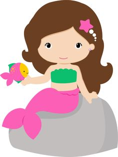 236x313 Cartoon Mermaid Cute Cartoon Mermaid With Seahorse Graphics