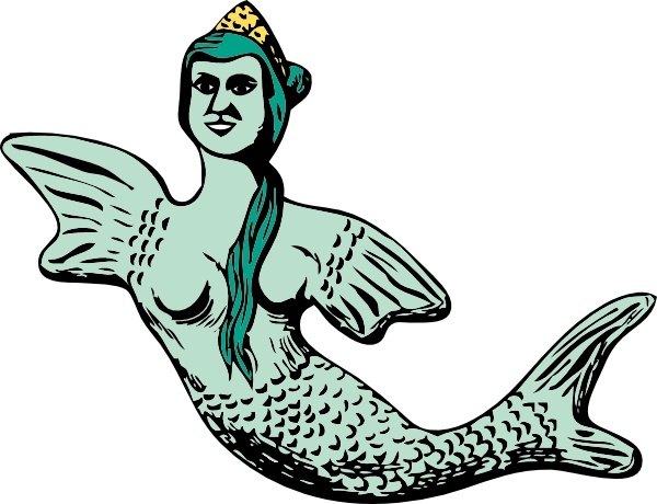 600x460 Mermaid Clip Art Free Vector In Open Office Drawing Svg ( Svg