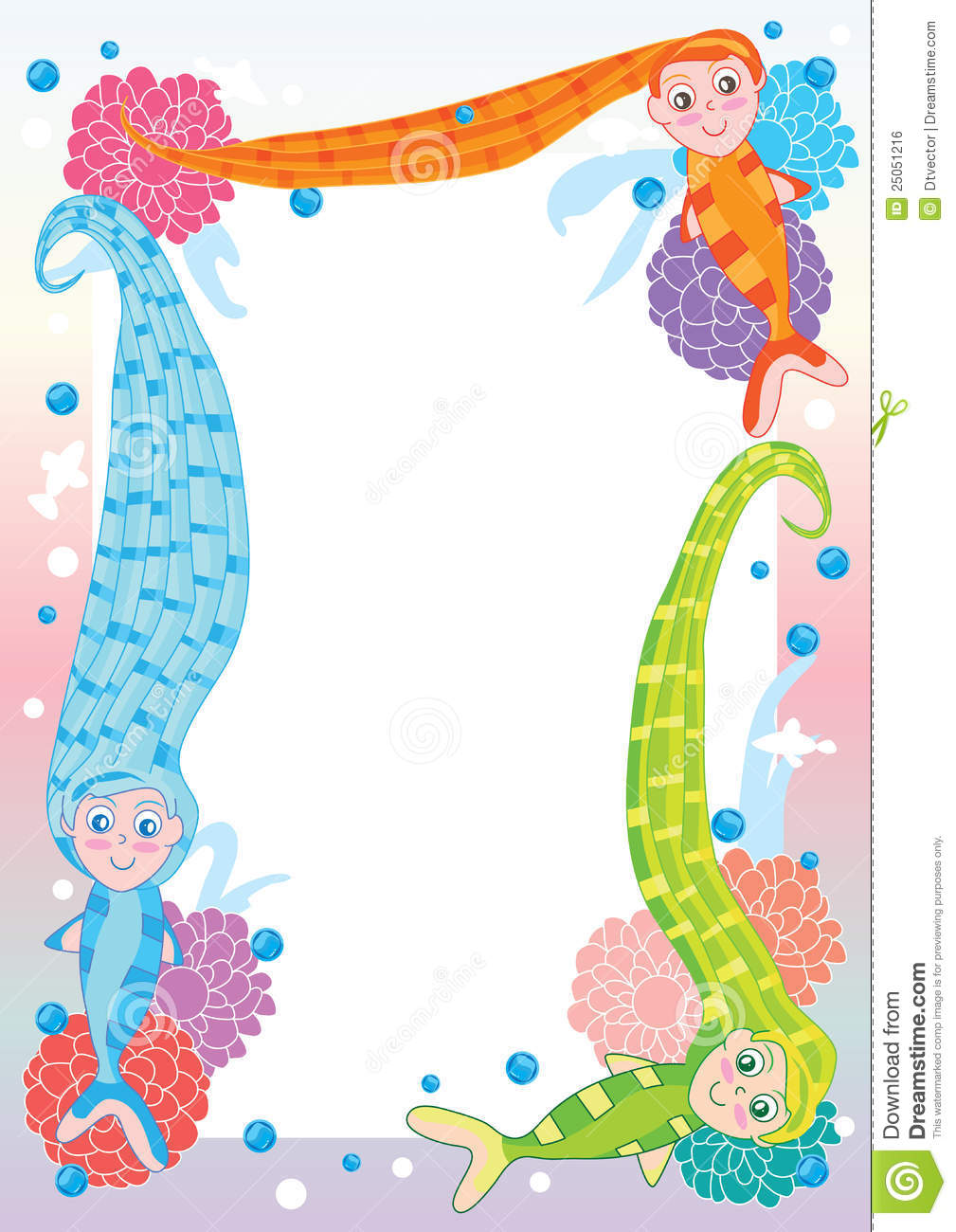1009x1300 Mermaid Clipart Frame