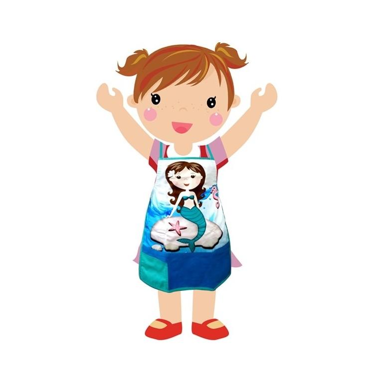 770x770 Buy Little Mermaid Kids Apron, Mermaid Printed Kids Kitchen Aprons