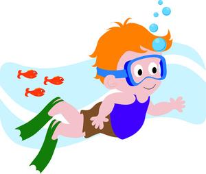 300x254 Swimming Clipart Child Swimming