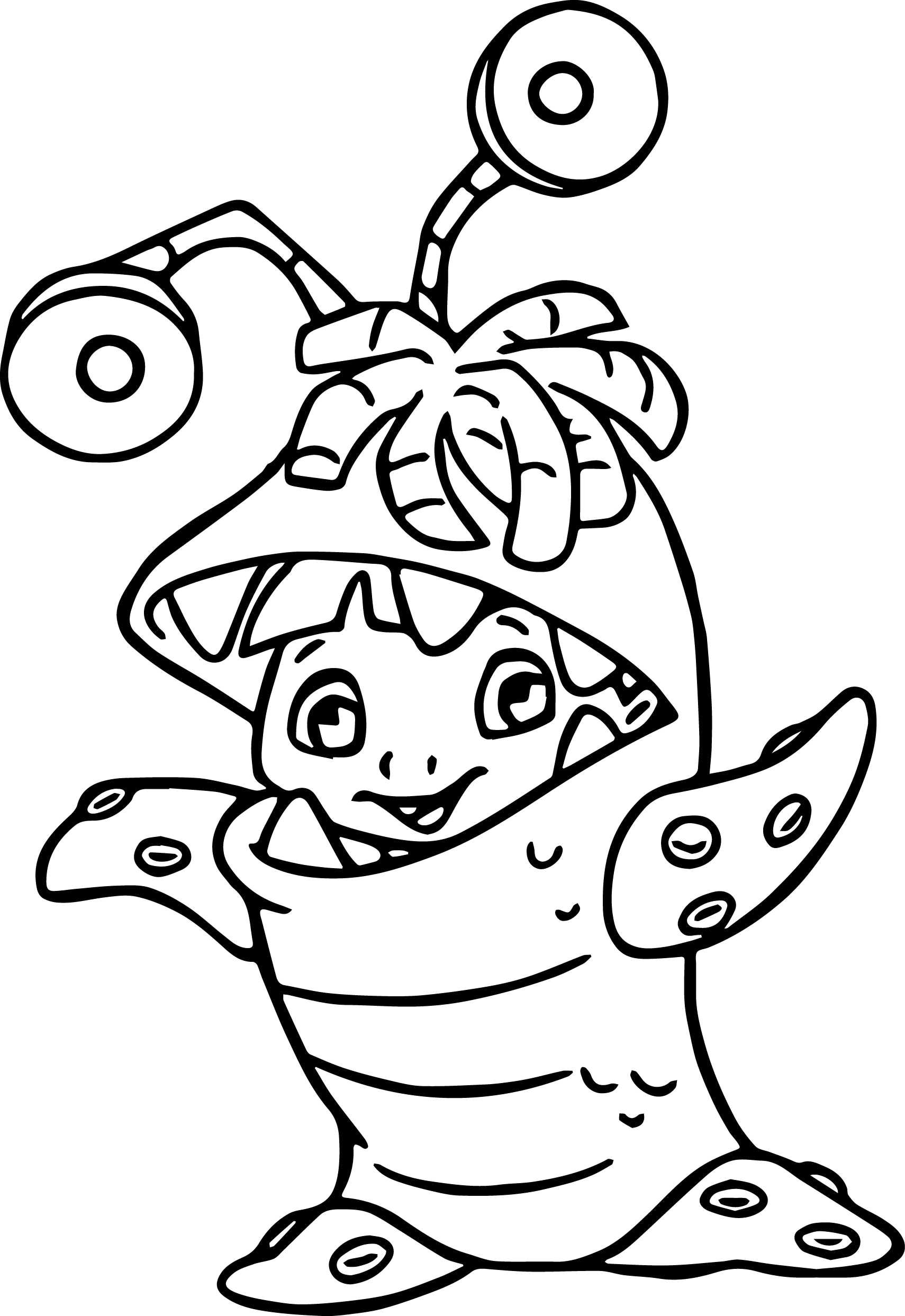 Mermaid coloring pages free download best mermaid for Mike wazowski coloring page