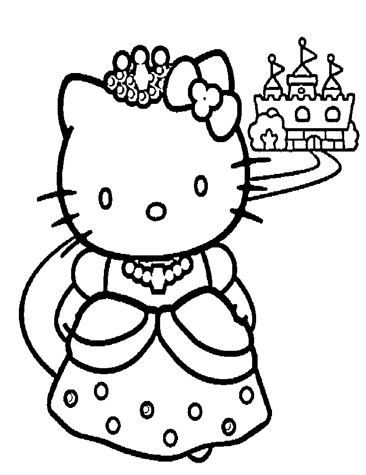 736x956 Hello Kitty Mermaid Coloring Pages