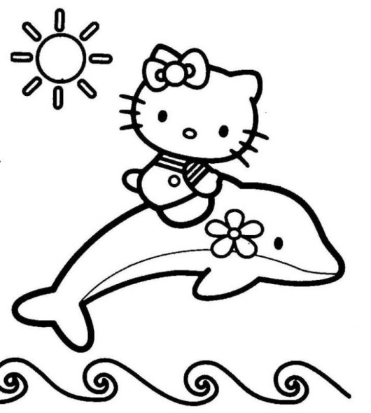 530x590 Hello Kitty Mermaid Coloring Pages
