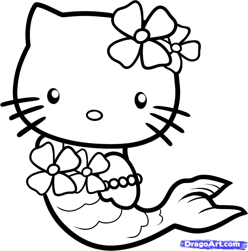 862x875 Inspirational Hello Kitty Mermaid Coloring Pages 65