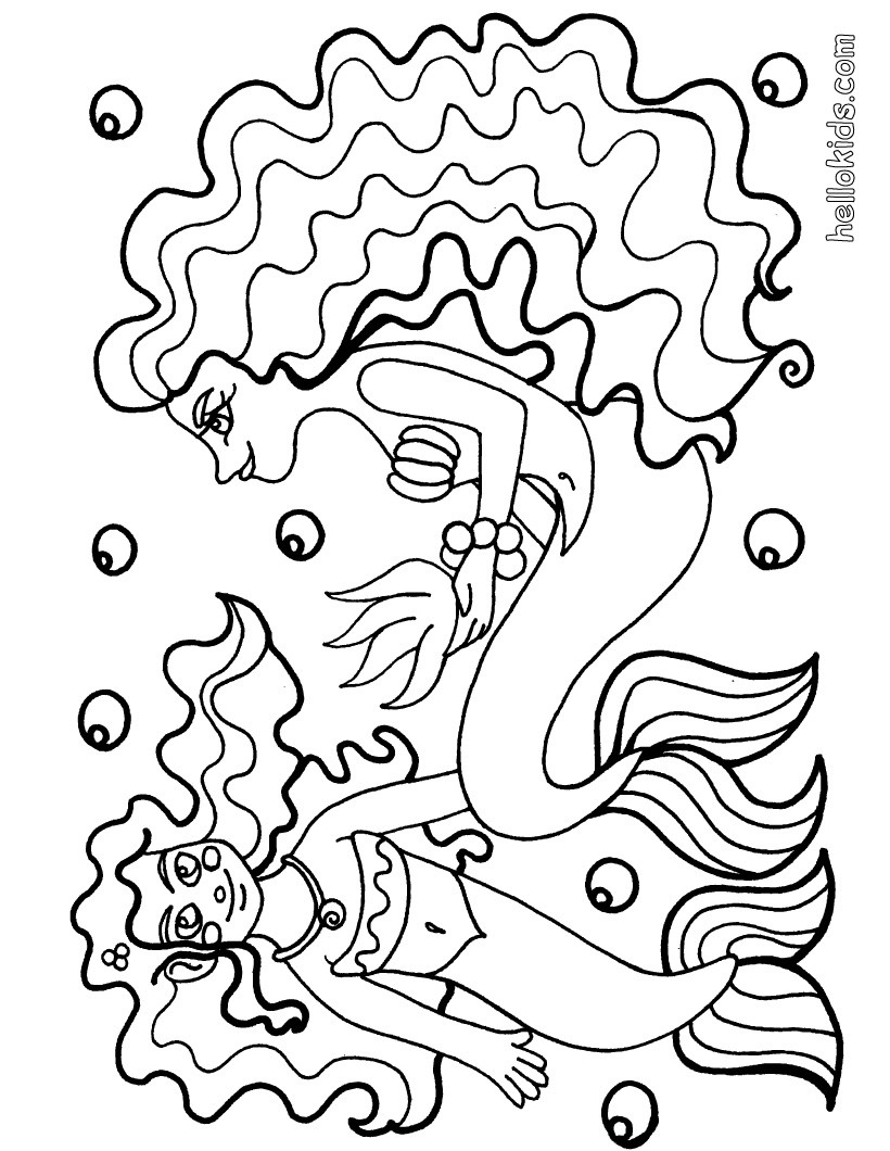 820x1060 Beautiful Mermaid Coloring Pages