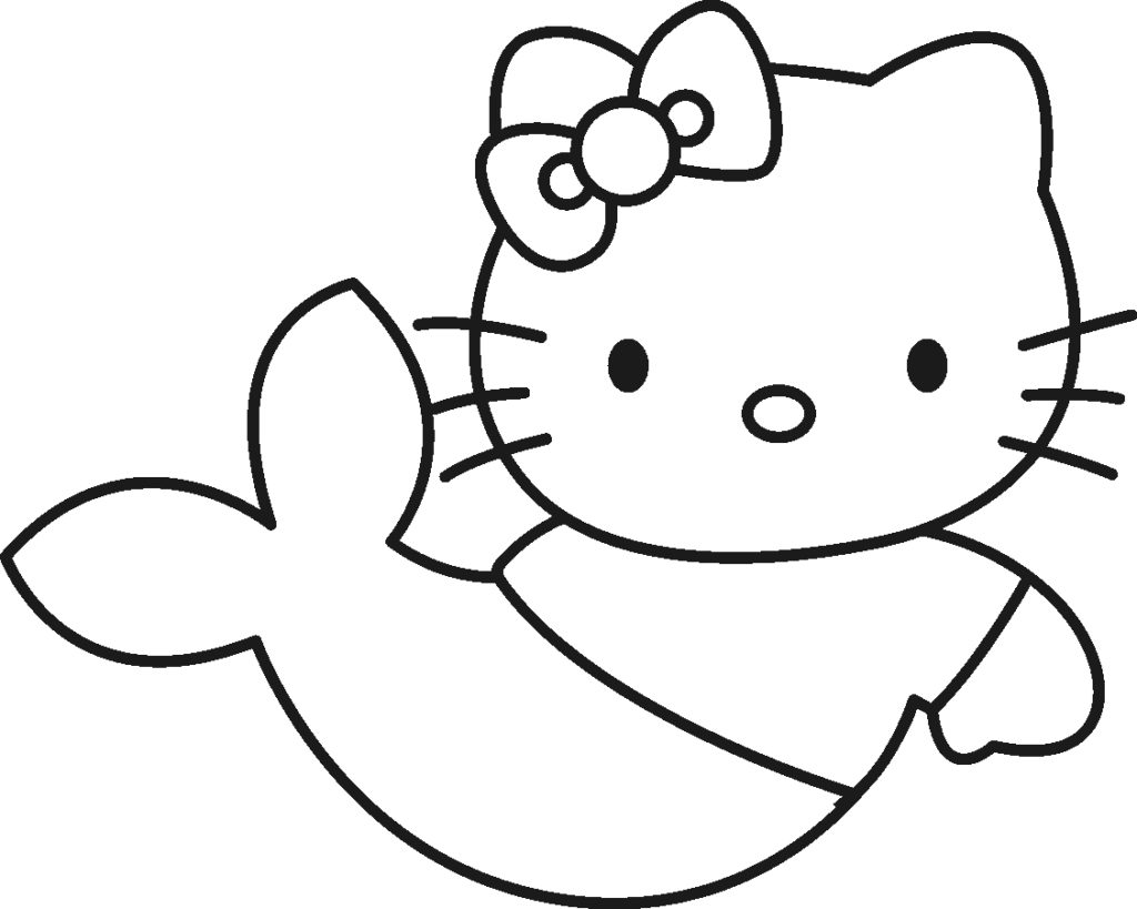 1024x819 Best Hello Kitty Mermaid Coloring Pages Free 1353 Printable
