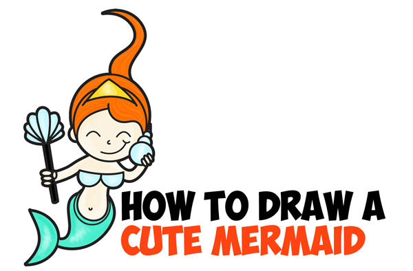 600x394 Mermaid Clipart Easy