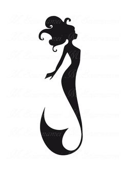 236x333 Mermaid Silhouette
