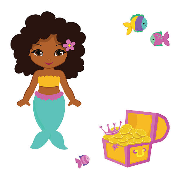 608x612 Graphics For African American Mermaid Graphics