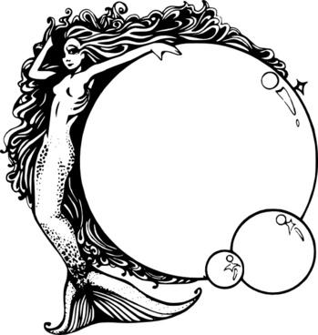 349x368 Mermaid Graphics Free Vector Download (38 Free Vector)