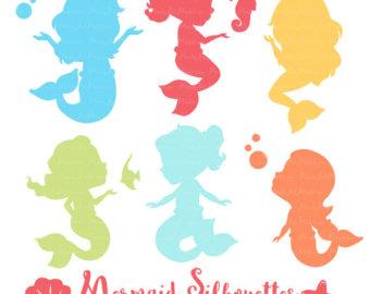 340x270 Mystical Mermaids Cute Digital Clipart Mermaid Clip Art