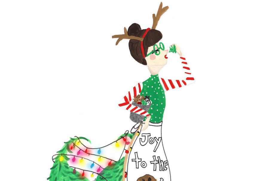 900x605 Christmas Cookie Mermaid Illustration By Ashley Nada