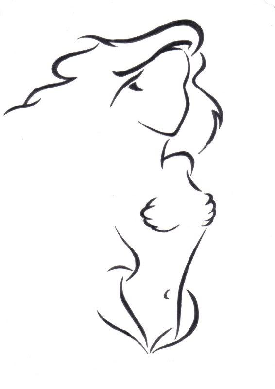 566x800 Outline Mermaid Tattoos Ideas