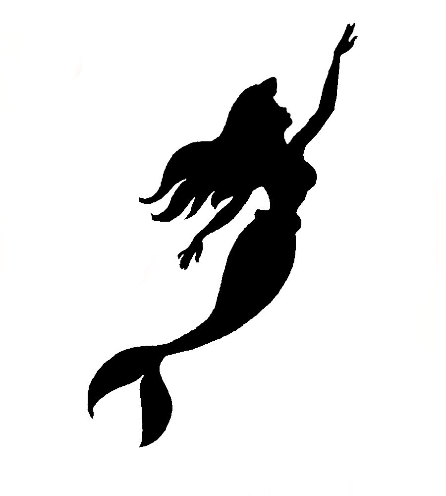 900x1000 Mermaid Black And White Mermaid Tail Clipart Black And White