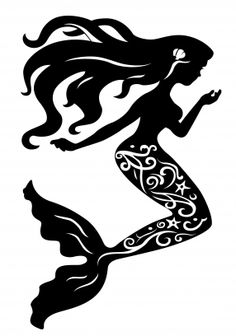 236x336 Fairy Collections Of Silhouettes Of A Mermaid Illustration