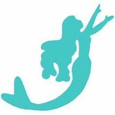 236x236 Mermaid Silhouette Clipart