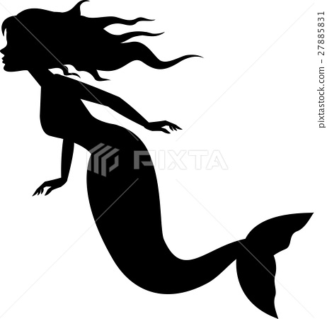 462x450 Mermaid Silhouette Swimming