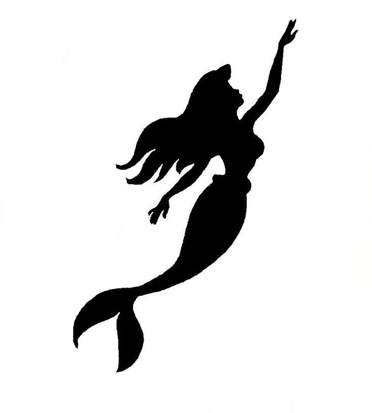 736x817 Silhouette Clipart Little Mermaid