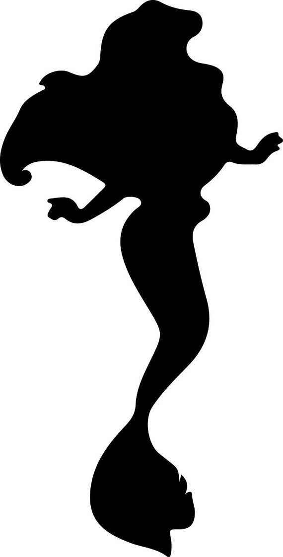 570x1122 Mermaid Silhouette Clip Art