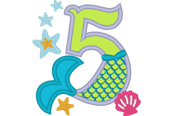 570x383 Mermaid Tail Birthday Number Mermaid Numbers Birthday Outfit