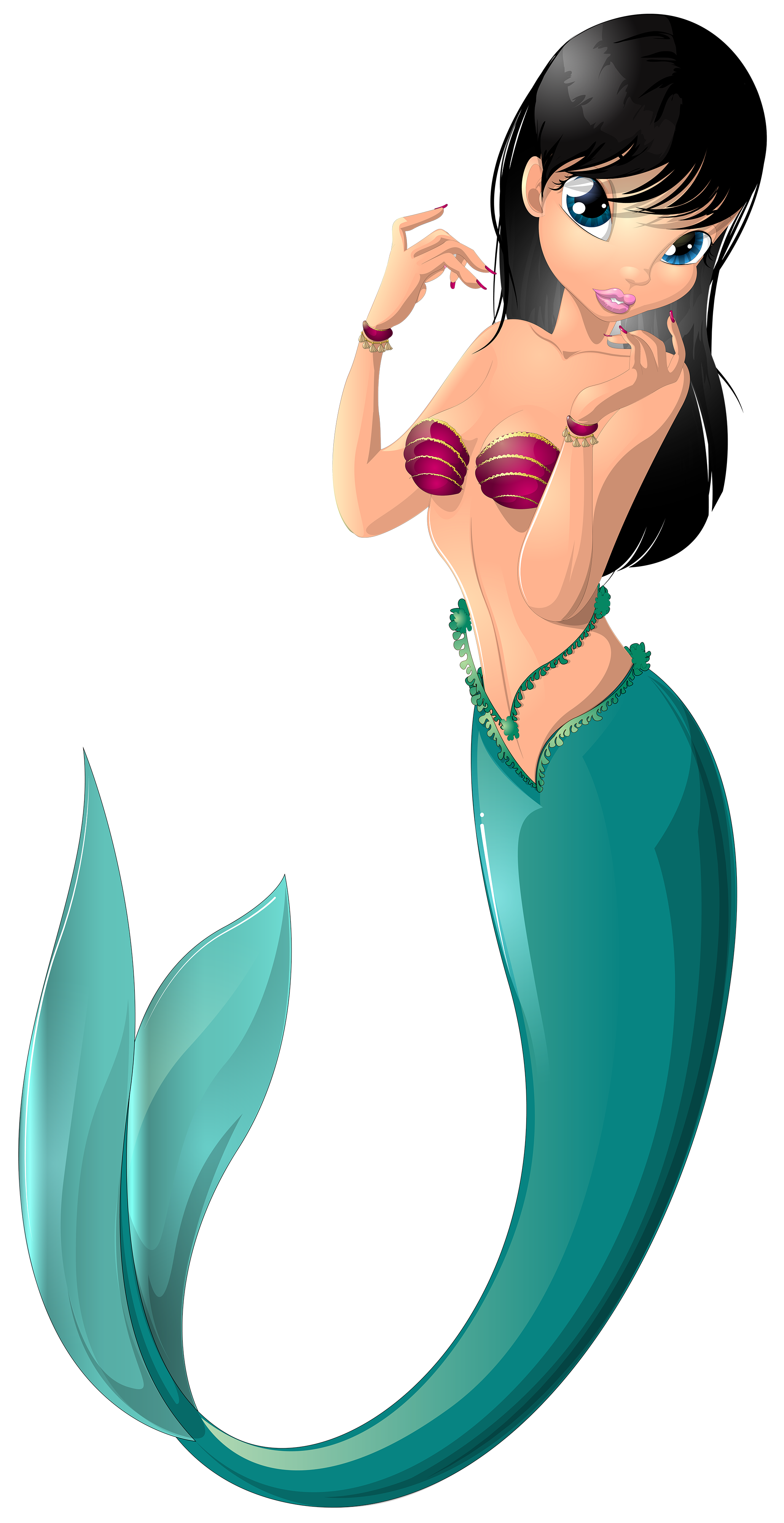 2060x4000 Mermaid Clip Art Image