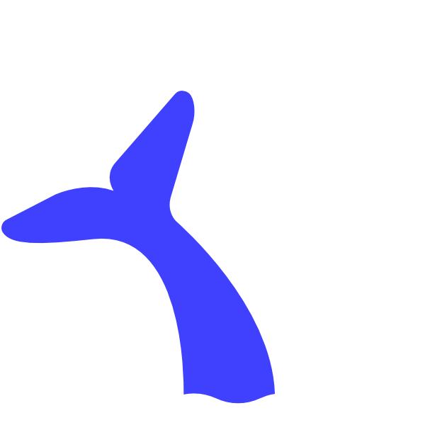 600x600 Blue Whale Tail Clip Art