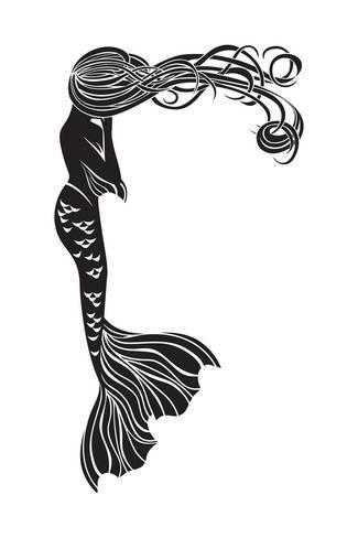 325x488 Crying Mermaid Stencil Prints By Kristina0702