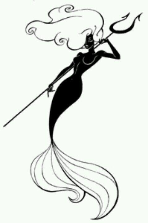 478x720 Drawn Mermaid Tatoo