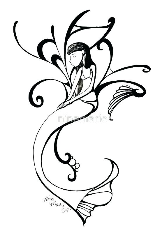 556x800 Mermaid Tail Clipart A Mermaid Silhouette Isolated On A White