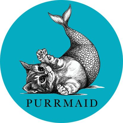 414x414 Purrmaid What If Creations Cat Art To Inspire