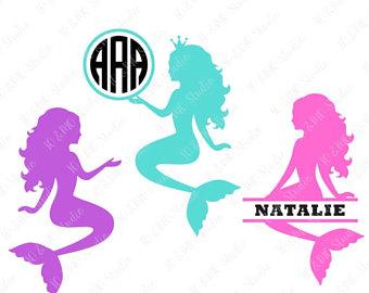 340x270 Mermaid Svg Mermaid Monogram Svg Mermaid Tail Svg Sea