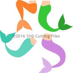236x234 Mermaid Tail Free Silhouette Studio Cut File