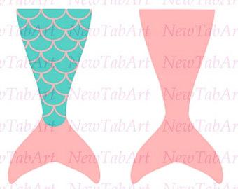 340x270 Mermaid Tail Svg Cut File Simple Mermaid Tail Silhouette Cut