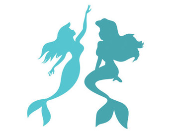 340x270 Little Mermaid Decal Stencil Svg Dxf File Instant Download