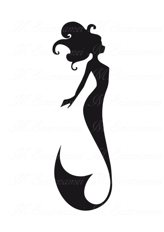 570x806 Mermaid Silhouette