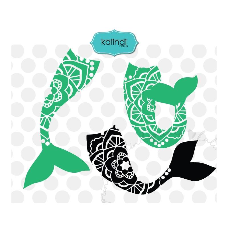 800x800 Mermaid Tail Svg, Mandala Mermaid Svg, Mandala Svg, Mermaid Svg
